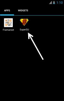 SuperSU Berhasil Terinstall Di Advan Vandroid S5K