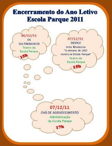 FIM DO ANO LETIVO DE 2011 NA ESCOLA PARQUE
