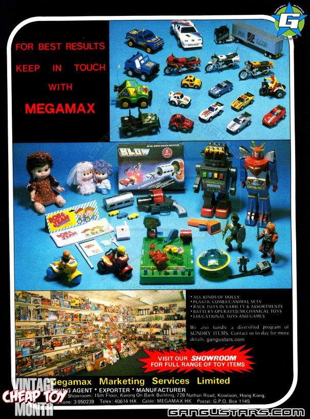 1985, Cheap Toy Month, Hong Kong, Hong Kong dolls, bootlegs, Japanese Robots, おもちゃ, ローボット, ミクロマン, Master of the Universe,