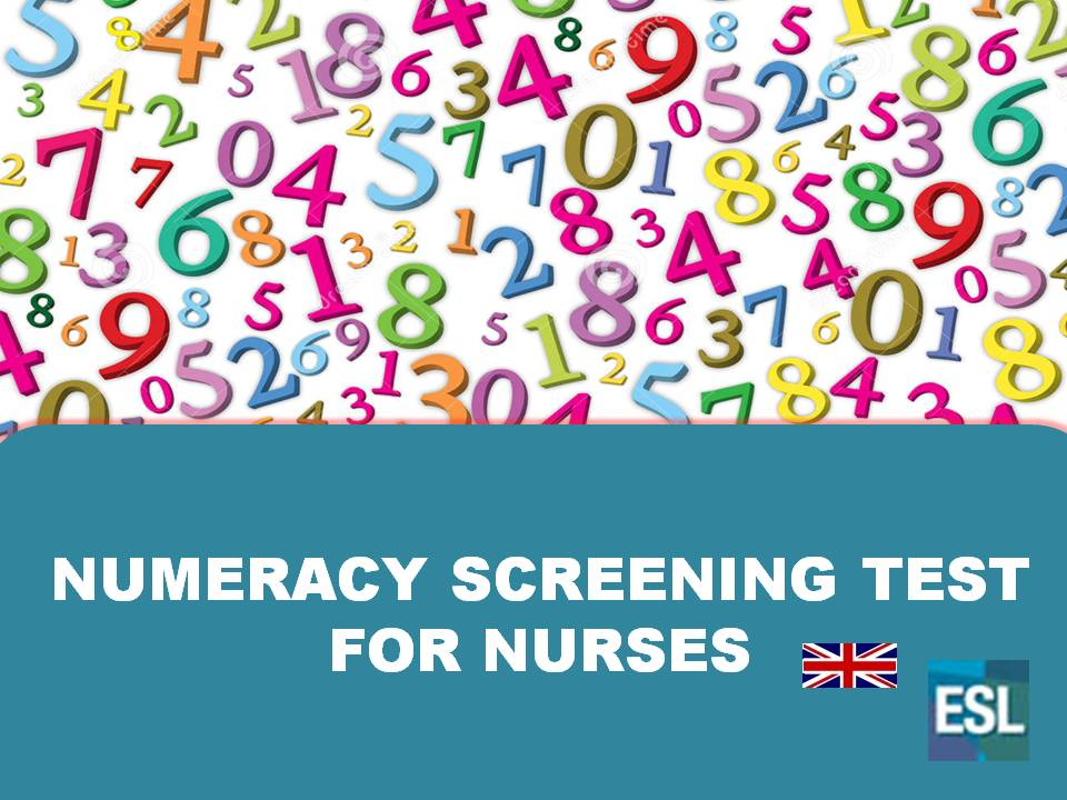NURSING.CEE: NUMERACY TEST FOR NURSES