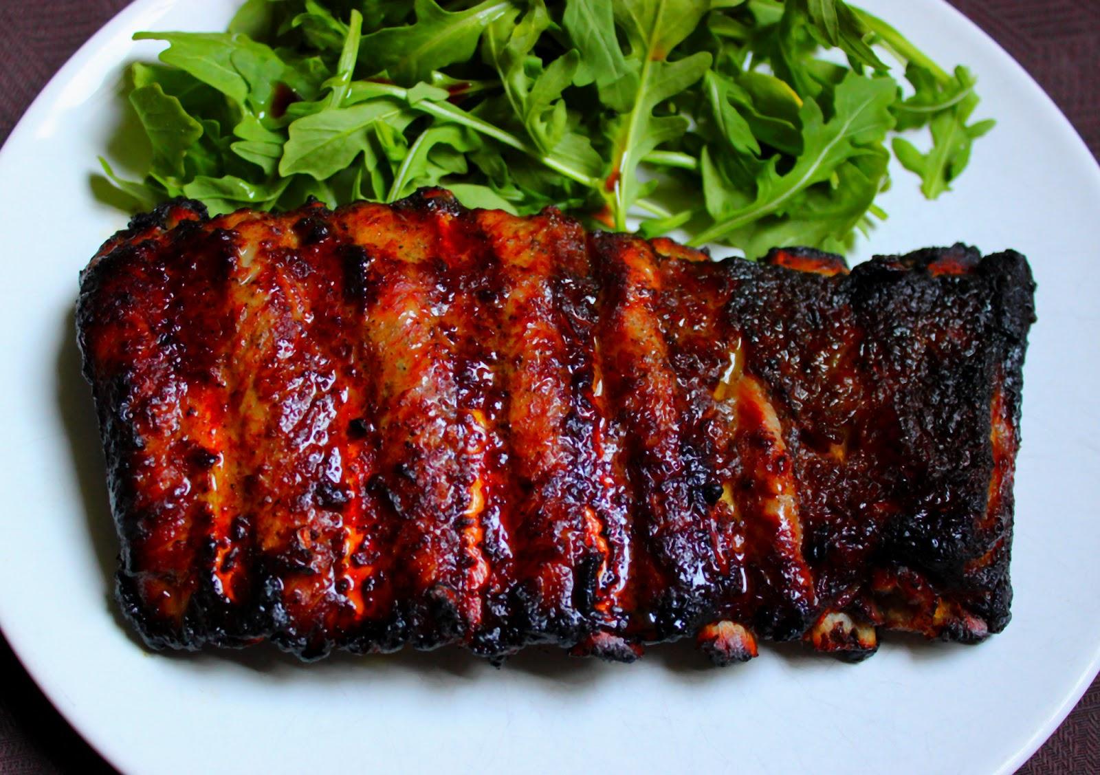 recette travers de porc sauce barbecue au four. Black Bedroom Furniture Sets. Home Design Ideas