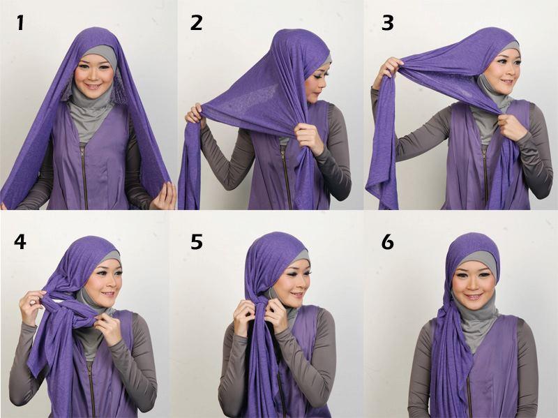 Cara Memakai Hijab Untuk wajah kotak