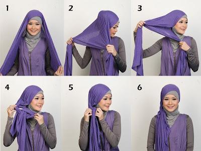 Cara Memakai Jilbab wajah kotak