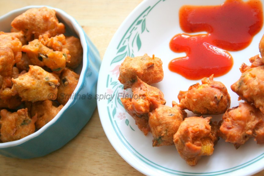 Spicy Corn Fritters / Corn Pakoras or Pakodas ~ Smitha's Spicy Flavors ...