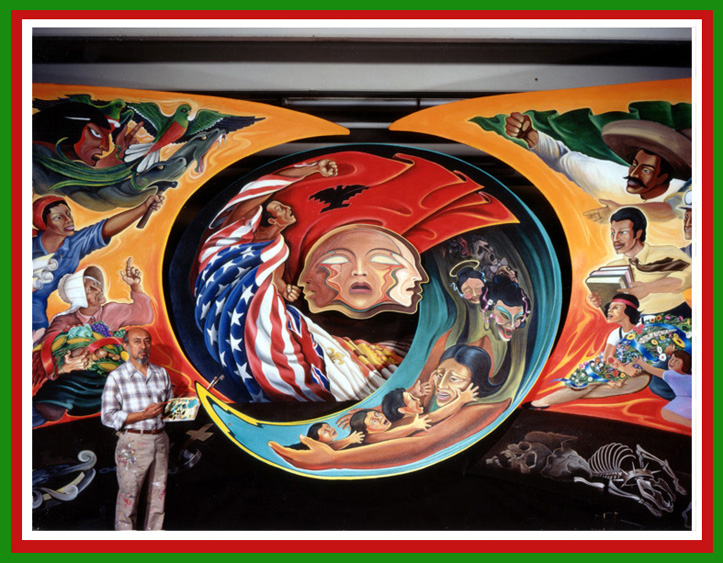 Sic semper tyrannis news denver airport allows camera for Denver mural airport