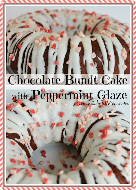 Chocolate Bundt Cake with Peppermint Glaze @ Robyn's View