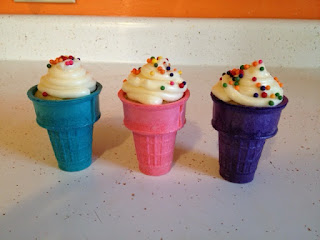 colored icecream cones cupcake