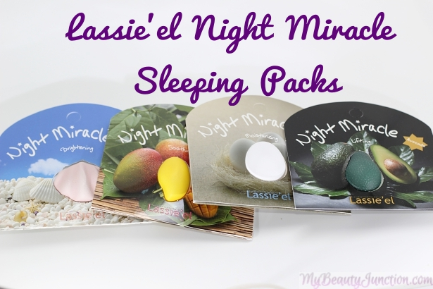 Lassie'el Night Miracle Mango, Egg, Pearl and Avocado Sleeping Packs review