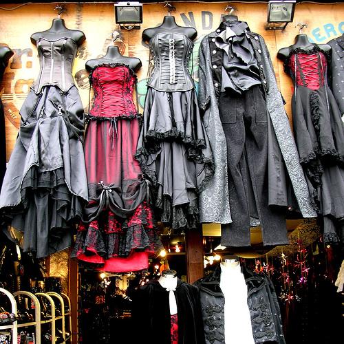 Belle Poque Striped Steampunk Gothic Victorian High Low