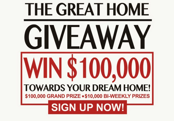 Great Home Giveaway Registration Page