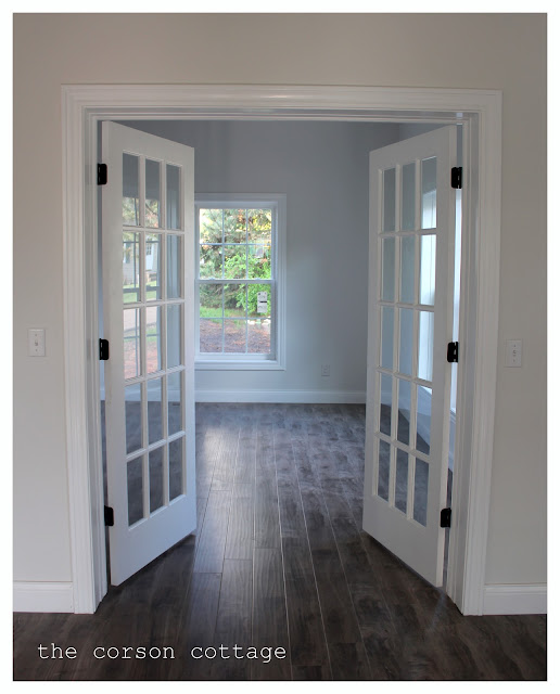 The corson cottage our renovation interior french doors for Interior double doors