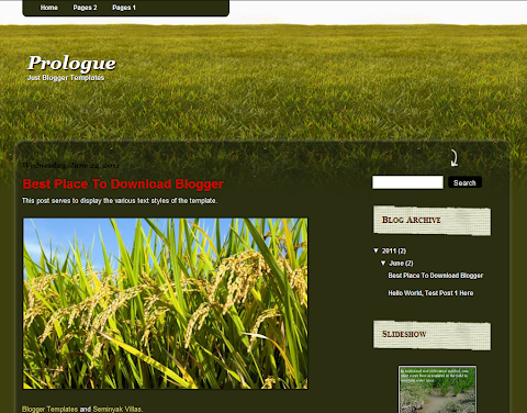 Prologue Blogger Theme