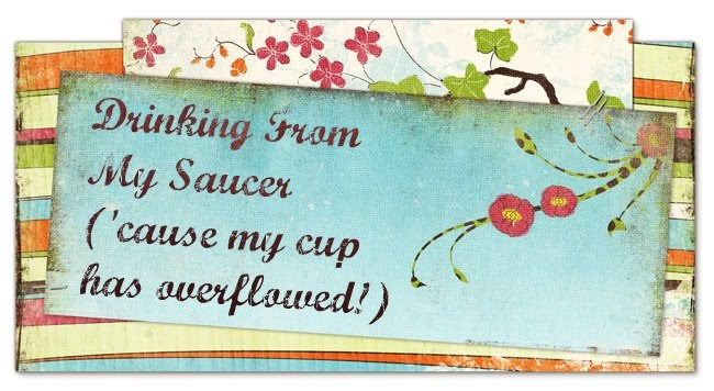 Drinking From My Saucer {&#39;cause my cup has overflowed!}