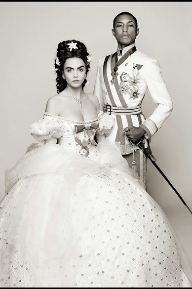 """""""REINCARNATION"""" LAGERFELD VIDEO WITH PHARRELL AND CARA DELEVINGNE"""