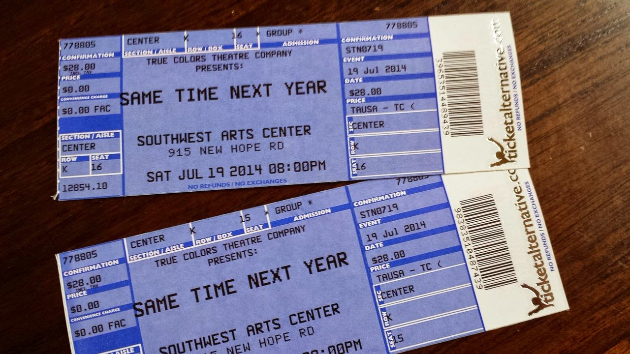 Same time next year tickets