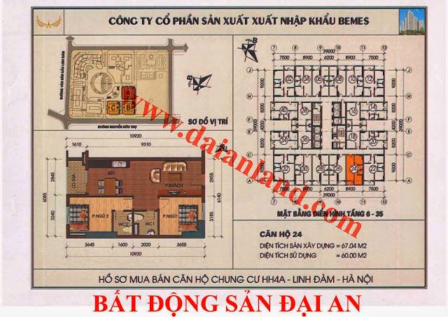 Căn hộ số 24 - Chung Cư HH4A Linh Đàm