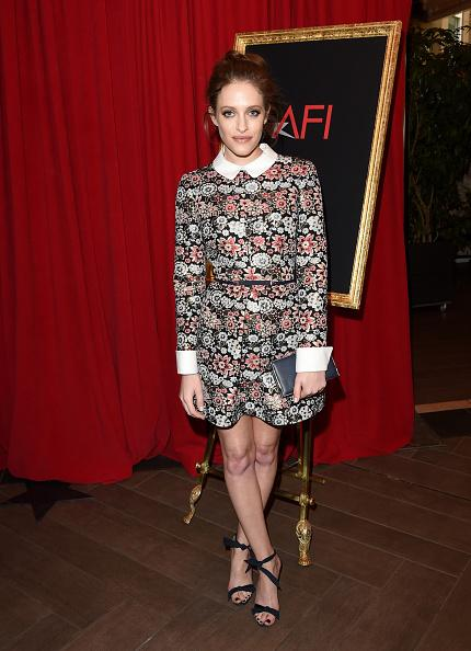 Carly Chaikin in Floral Dress