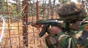 The Indian army troops killed a Pakistani civilian and wounded four