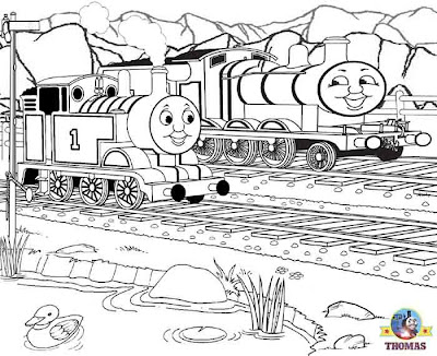 Locomotive coloring pictures for kids to print out and color Thomas the train James the red engine