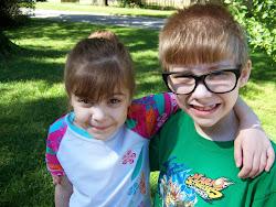 Woodjie (7) and Rose (6).