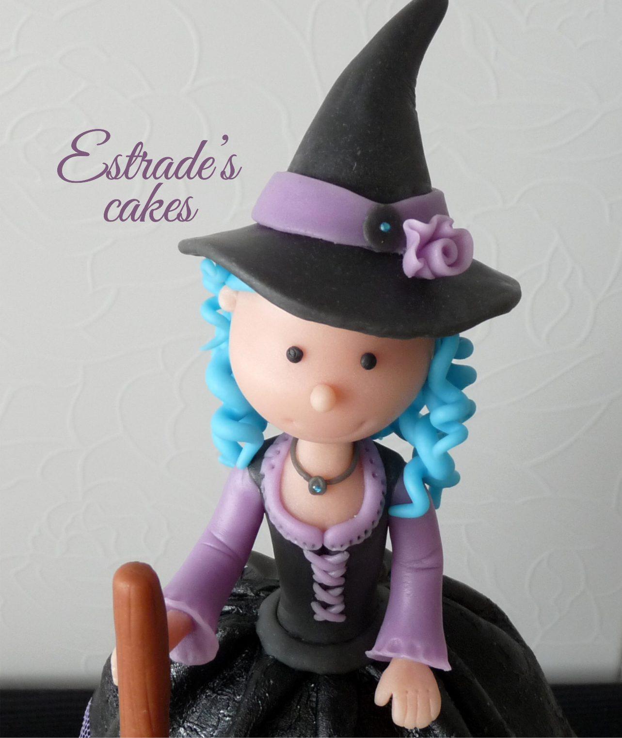 muñeca alta de brujita en porcelana fría - 2