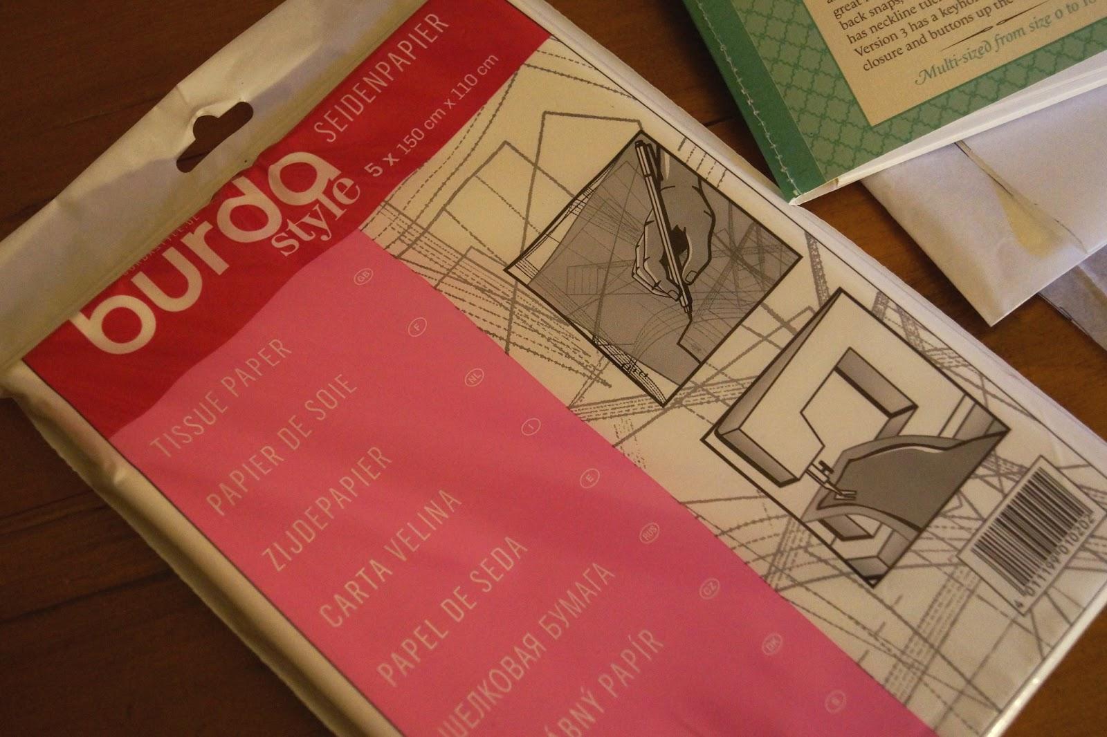 5 x 150cm x 110cm Tissue Paper Pattern Paper Burda Style