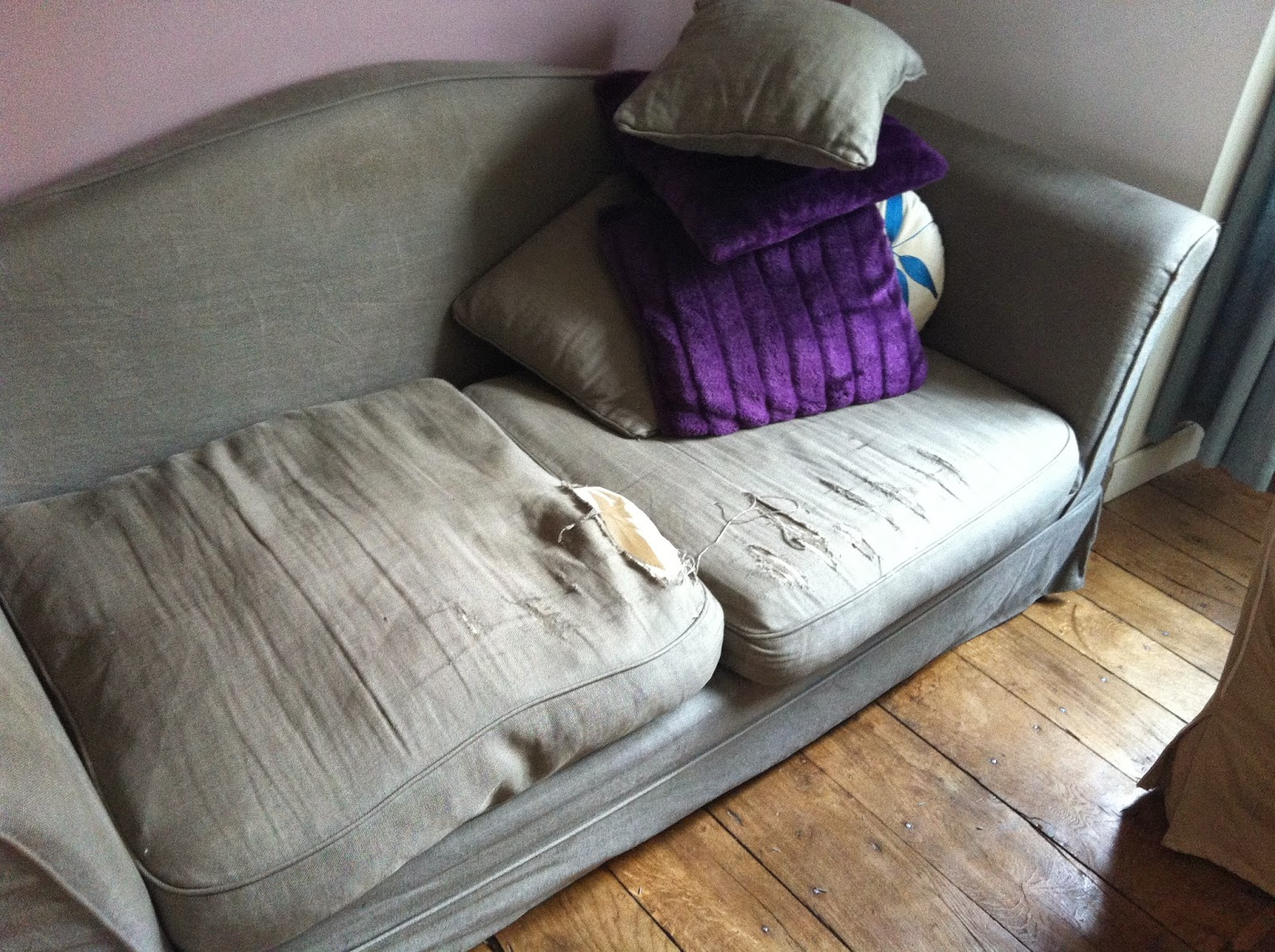 housse de coussin d assise de canapé in the mood for joy: Tuto couture : refaire les housses de  housse de coussin d assise de canapé