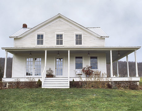 I spy pretty stunning farmhouse from country living Simple beautiful homes exterior