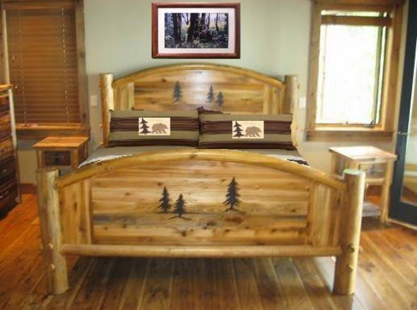 Rustic wood bedroom furniture design ideas