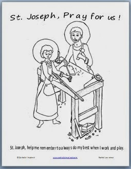 St joseph the worker coloring page catholic inspired for St joseph coloring page