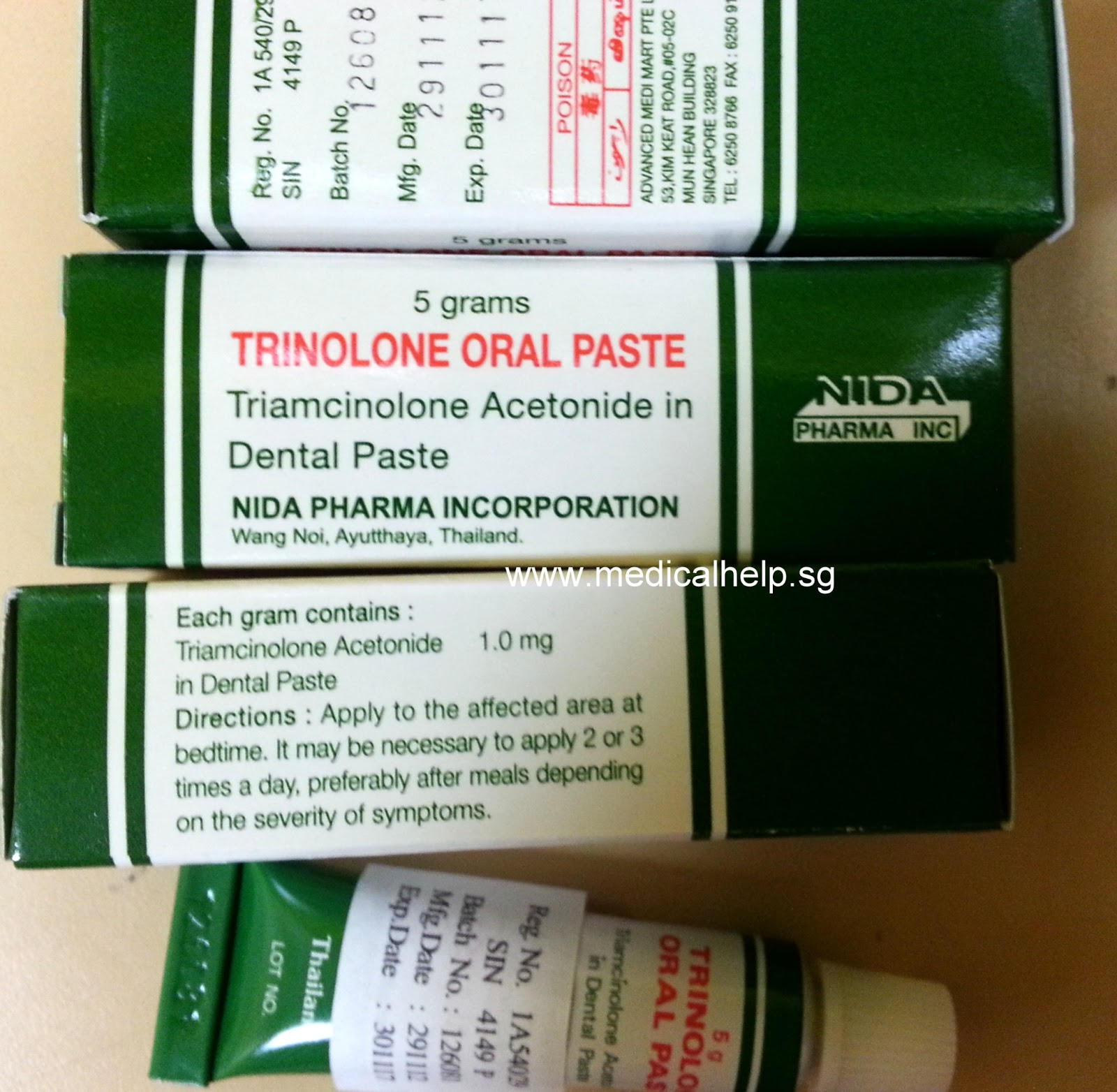 triamcinolone acetonide dental paste generic