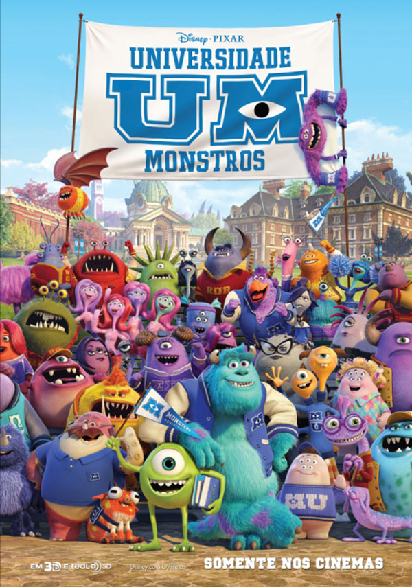 Download - Universidade Monstros ( Monsters University ) – BDRip AVI Dual Áudio + RMVB Dublado ( 2013 )