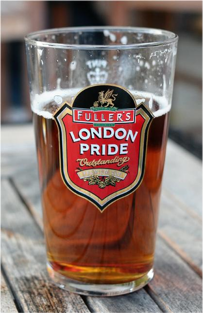 picture of a pint of London Pride beer