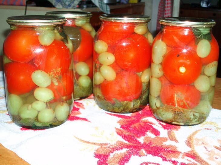 Рецепты помидоров с виноградом