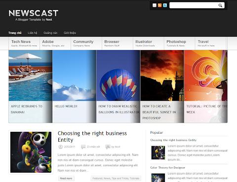 Newscast Blogger Theme