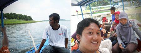 Suasana di atas Perahu