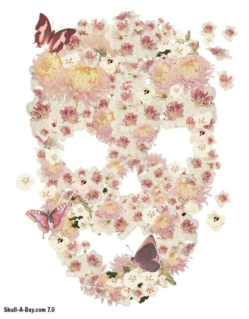 Flowers skull mightylinksfo