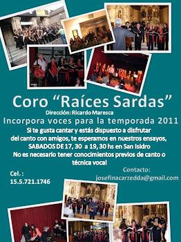 """Coro """"Raíces Sardas - 2011"""