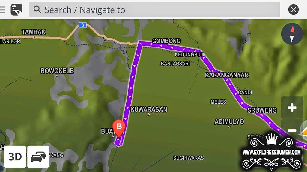Peta Lokasi Alang Ujung Buayan Kebumen