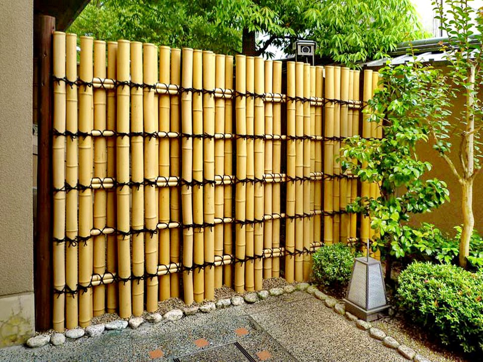 JARDINS MARAVILHOSOS Cercas de bambu