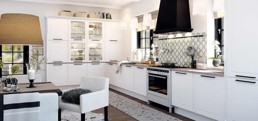 El rom ntico estilo n rdico en la cocina cocinas con estilo - Cocinas negras y blancas ...
