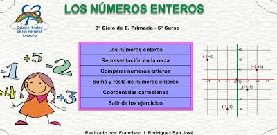 Mas allá del aula... ;): Matemáticas 6º. Los números enteros ...