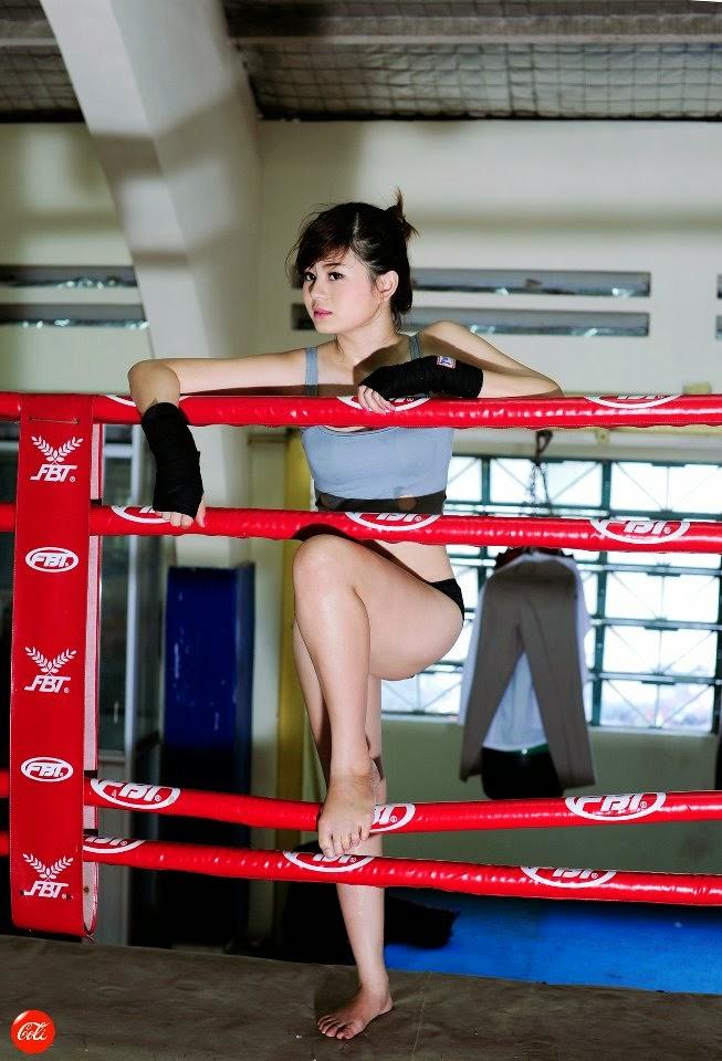 Hotgirl Châu Dương sexy với trang phục boxing 12