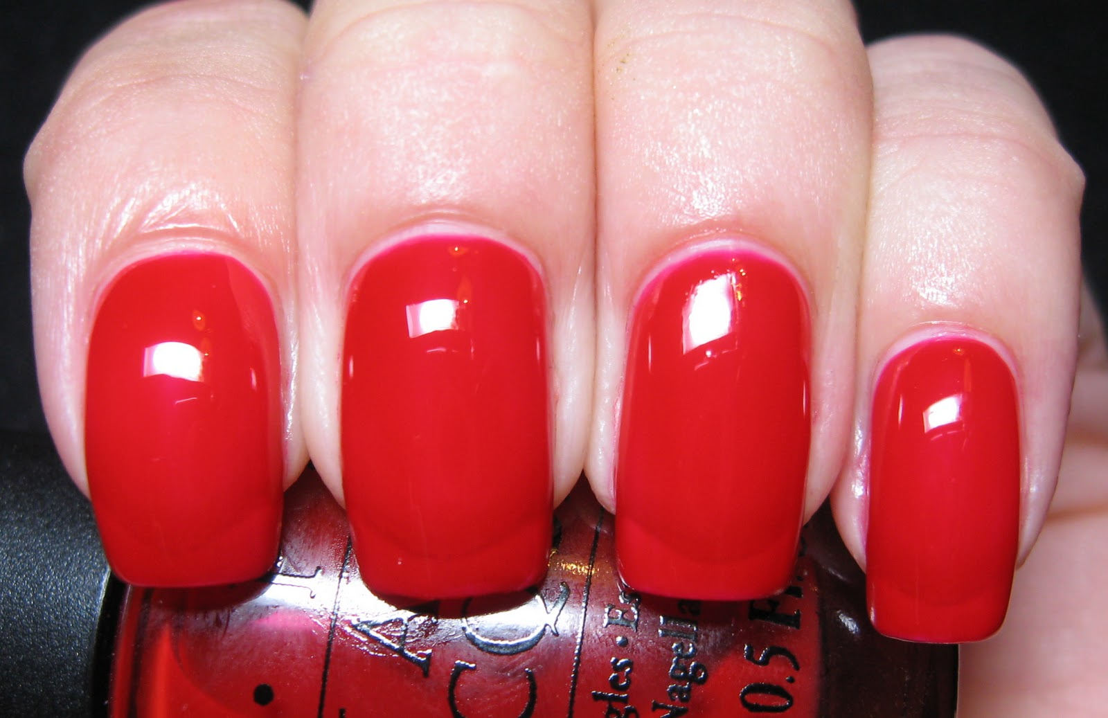 Polished Casual: Red Obsession: OPI Keys to My Karma