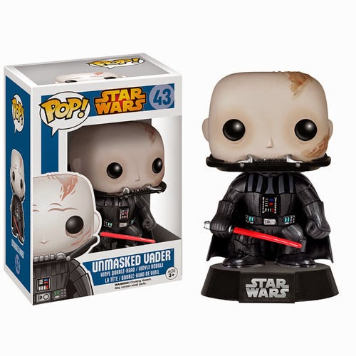 Unmasked Darth Vader Pop! Star Wars Vinyl Figure by Funko