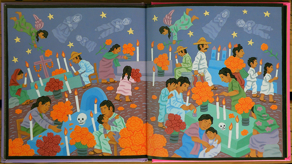 "Pages from ""Day of the Dead,"" by Tony Johnston & Jeanette Winter."