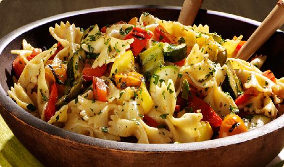 Photo: Pasta Salad with Mediterranean Vegetables Recipe