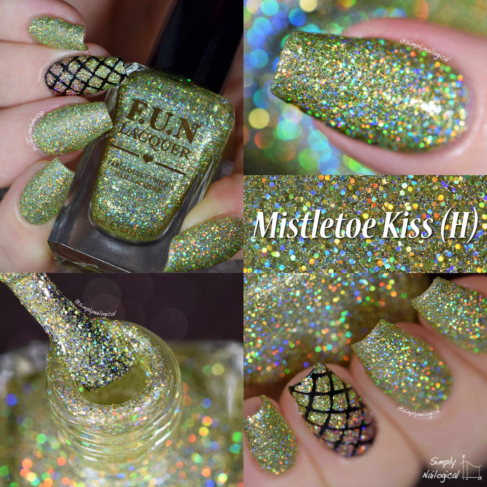 FUN Lacquer Christmas 2014 collection - Mistletoe Kiss (H) swatch