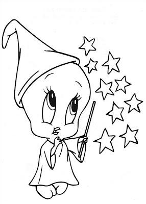 Piu-Piu para colorir - Baby Looney Tunes