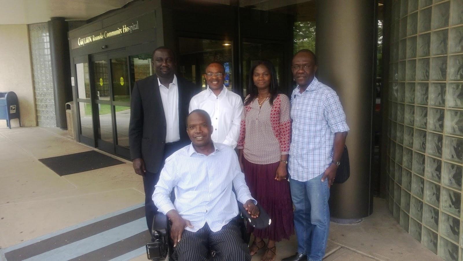 Koduah, Mrs Martha Ntumy and Pastor Jonnie Ansah behind me. Pastor ...